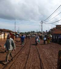 A typical road in DR Congo