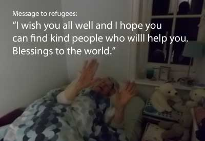 Message for refugees