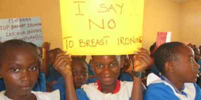 No-breast-ironing