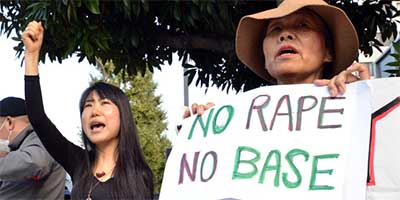 Civic group members have protested against the alleged rape in Tokyo [AFP]