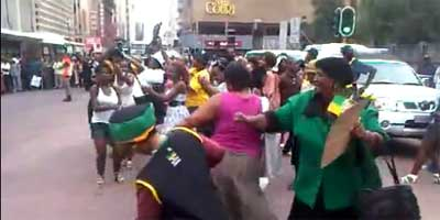 Mini-skirt march in Johannesburg